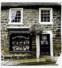 Shop Front. Oldest Sweet Shop in England. Poster