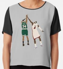 Paul Pierce Clutch Shot Over LeBron Chiffon Top
