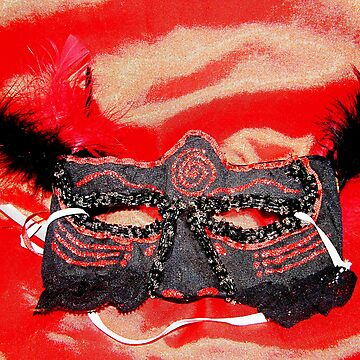 Satin hand made mask by mandyemblow