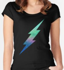 Galactic Bolt Women's Fitted Scoop T-Shirt