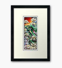 Mega rayquaza japanese style Framed Print