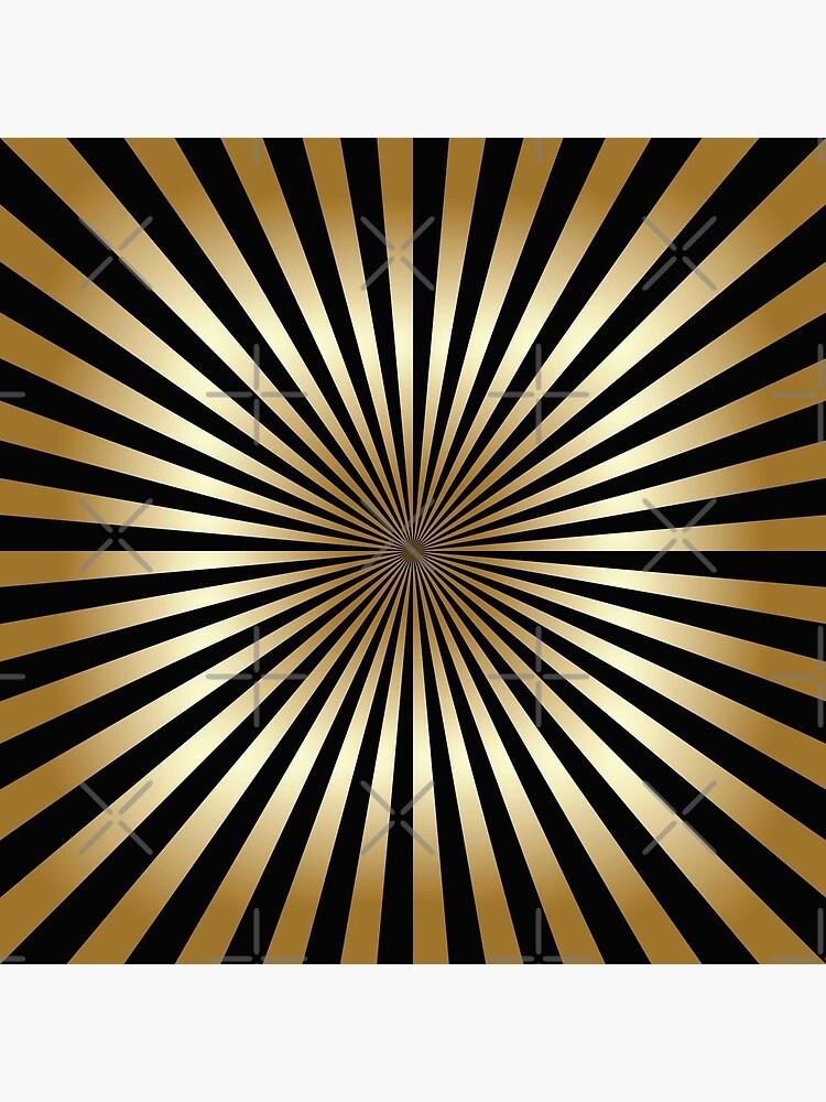 Zoom, Gold, Schwarz, Streifen, Diagonale, trendy, modern, elegant, chic, Muster von love999