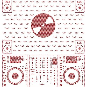 DJ Xmas CD (red) by Kniffen