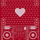 DJ Xmas Heart  (white) by Kniffen