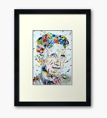 GEORGE ORWELL - watercolor portrait.3 Framed Print