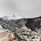 Original watercolor painting of Pikes Peak, Colorado by Bryan Duddles