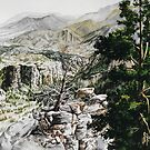 Original watercolor painting of William's canyon by Bryan Duddles