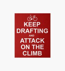 Keep Drafting And Attack On The Climb Art Board