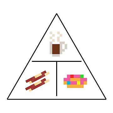 Coffee Bacon Donut Illuminati by gkillerb