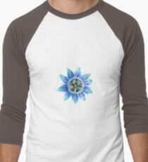 Passion in Blue Men's Baseball ¾ T-Shirt