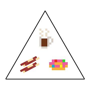 Coffee Bacon Donut Pyramid by gkillerb