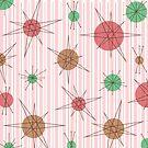 Atomic Era Candy Cane Stripes by thepixelgarden