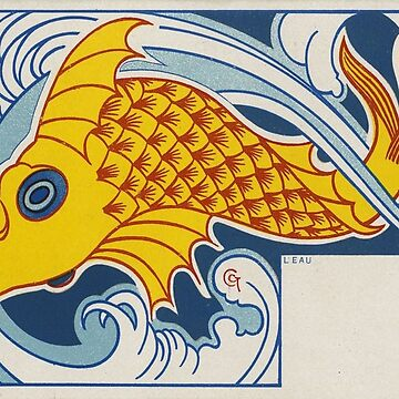 Vintage poster - Fish by mosfunky