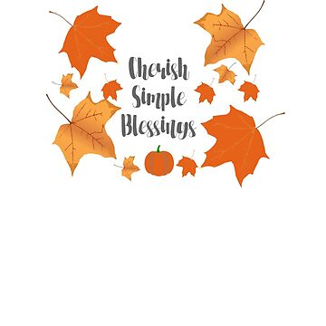 Cherish Simple Blessings Autumn Fall Changing Leaves Sticker by EbethS