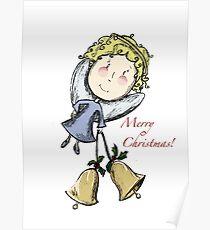 Little Christmas Angel Poster