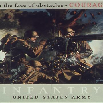 Vintage poster - U.S. Infantry by mosfunky