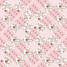 Pink patchwork patterned squares by thatsgraphic