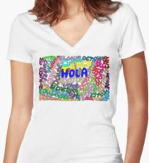 Espanol esoterico Women's Fitted V-Neck T-Shirt