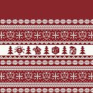 """Roll for Initiative Fair Isle in """"Holly"""" by SweetDelilahs"""