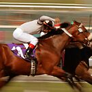 Storming Down the Santa Anita Homestretch by caqphotography