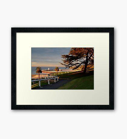 Eastern Beach Geelong. Framed Print