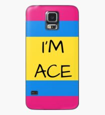 Panromantic Flag Asexual I'm Ace Asexual T-Shirt Case/Skin for Samsung Galaxy