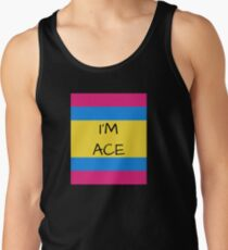 Panromantic Flag Asexual I'm Ace Asexual T-Shirt Men's Tank Top