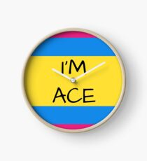 Panromantic Flag Asexual I'm Ace Asexual T-Shirt Clock