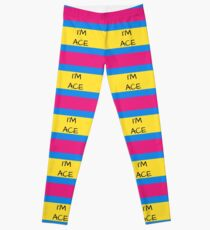 Panromantic Flag Asexual I'm Ace Asexual T-Shirt Leggings