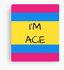 Panromantic Flag Asexual I'm Ace Asexual T-Shirt Canvas Print