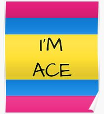 Panromantic Flag Asexual I'm Ace Asexual T-Shirt Poster