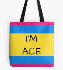 Panromantic Flag Asexual I'm Ace Asexual T-Shirt Tote Bag
