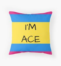 Panromantic Flag Asexual I'm Ace Asexual T-Shirt Throw Pillow