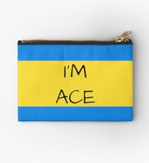 Panromantic Flag Asexual I'm Ace Asexual T-Shirt Studio Pouch