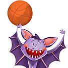 b ist für Fledermaus mit einem Basketball von Niharika Singh