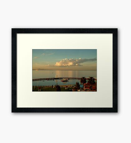 Sundown Eastern Beach,Geelong Framed Print