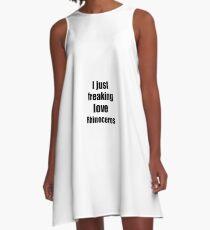 Rhinoceros Lover Funny Gift Idea Animal Love A-Line Dress