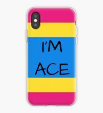 Panromantic Flag Asexuality I'm Ace Asexual T-Shirt iPhone Case