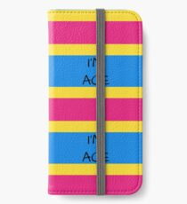 Panromantic Flag Asexuality I'm Ace Asexual T-Shirt iPhone Wallet/Case/Skin