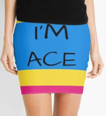 Panromantic Flag Asexuality I'm Ace Asexual T-Shirt Mini Skirt