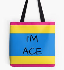 Panromantic Flag Asexuality I'm Ace Asexual T-Shirt Tote Bag