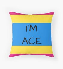 Panromantic Flag Asexuality I'm Ace Asexual T-Shirt Throw Pillow
