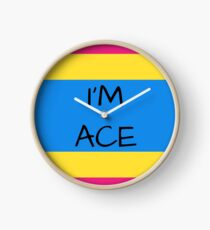 Panromantic Flag Asexuality I'm Ace Asexual T-Shirt Clock