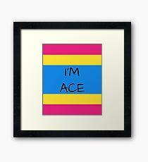 Panromantic Flag Asexuality I'm Ace Asexual T-Shirt Framed Print