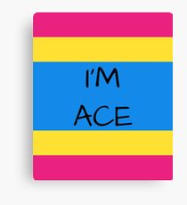 Panromantic Flag Asexuality I'm Ace Asexual T-Shirt Canvas Print