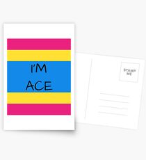 Panromantic Flag Asexuality I'm Ace Asexual T-Shirt Postcards
