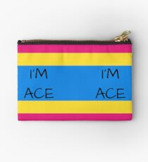 Panromantic Flag Asexuality I'm Ace Asexual T-Shirt Studio Pouch