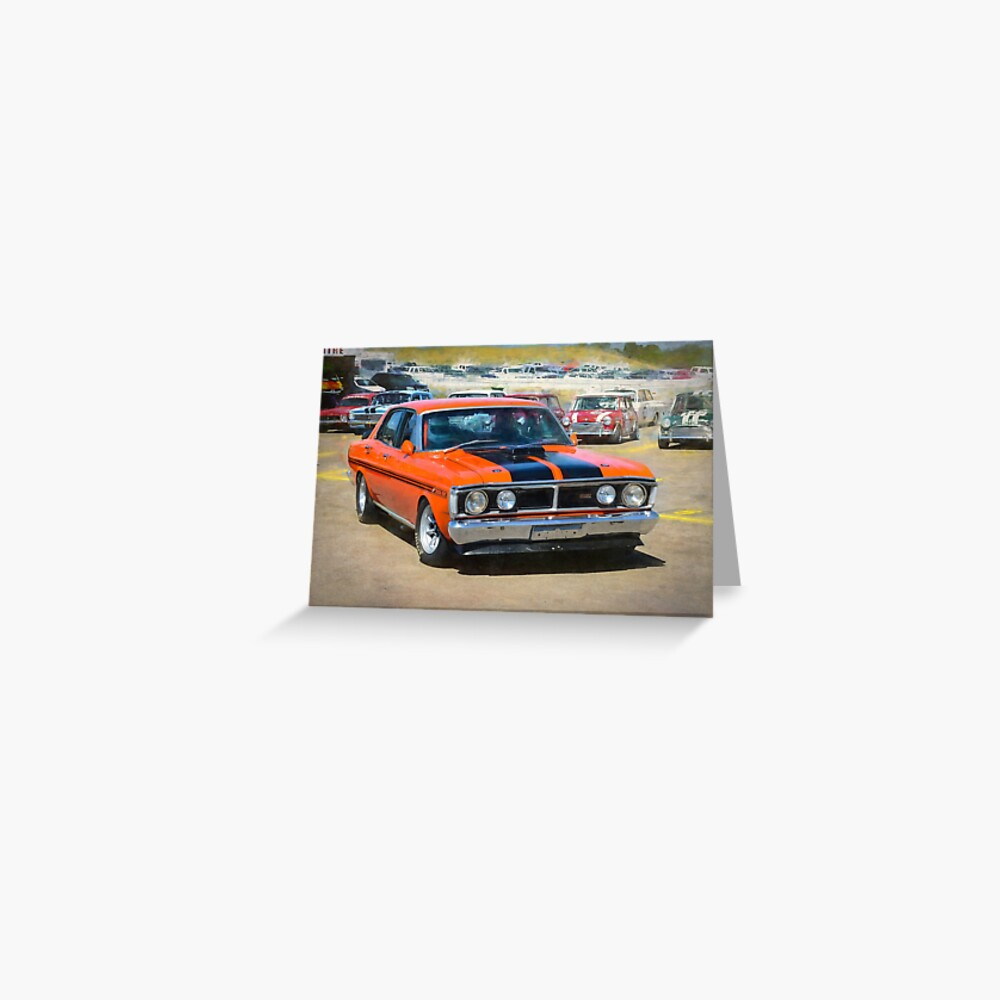 Red XY Ford Falcon 351GT Greeting Card
