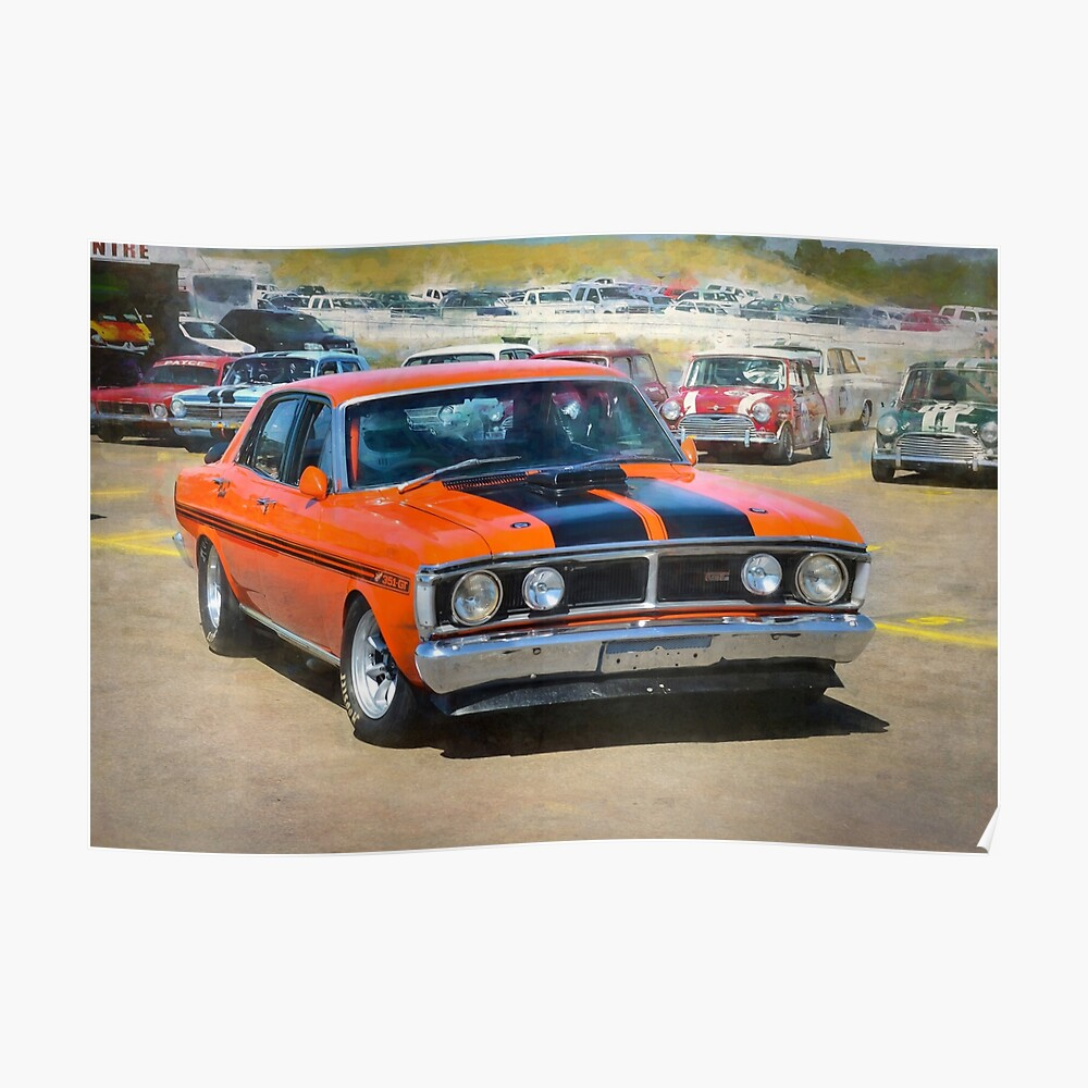 Red XY Ford Falcon 351GT Poster
