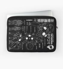 Tachikoma blueprint Laptop Sleeve